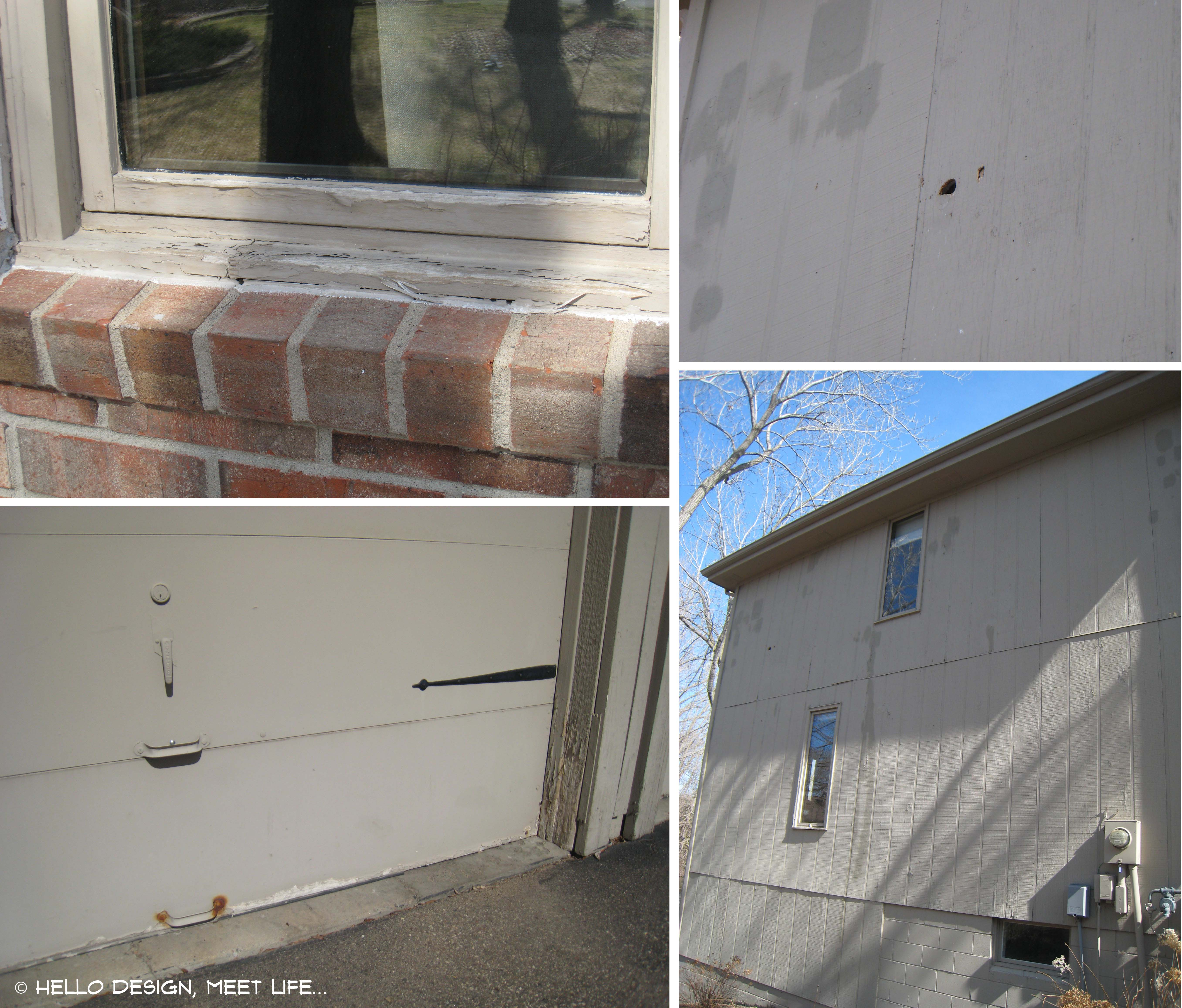 Hello design meet life a blog about what happens to our design ideas when real life - Exterior paint peeling concept ...